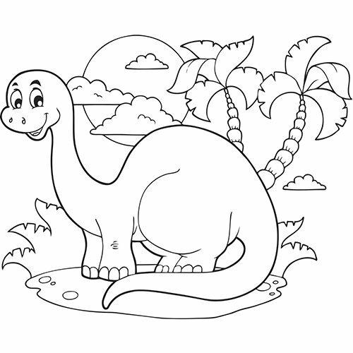 coloriage bebe dinosaure a imprimer