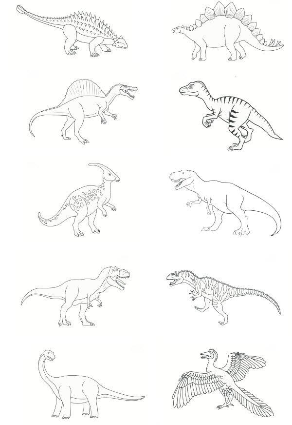 coloriage dinosaure carnivore imprimer