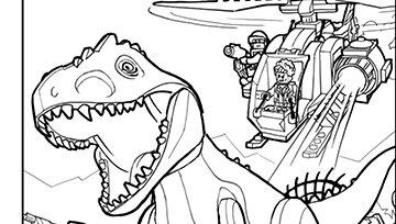 coloriage lego dinosaure